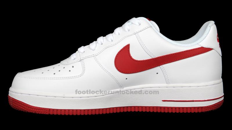 timeless design e9718 7d6ff Nike Air Force 1 Low White Gym Red – Foot Locker Blog