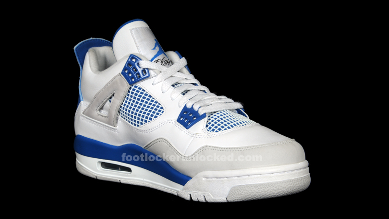 "half off 08f69 ba78a Jordan Retro IV ""Military Blue"" – Foot Locker Blog"