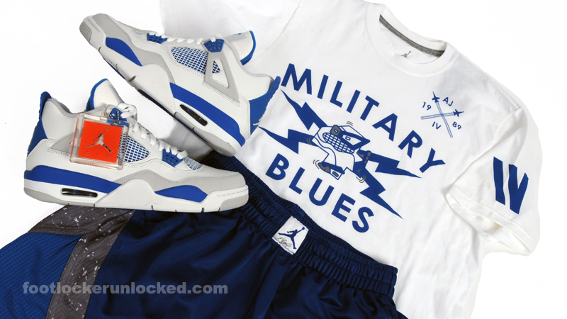 "4c22fcd7f5f70d Jordan Retro IV ""Military Blue"" – Foot Locker Blog"