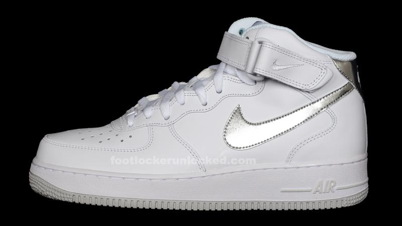 3f1756a208a2a2 Nike Air Force 1 Mid 07 – White Silver