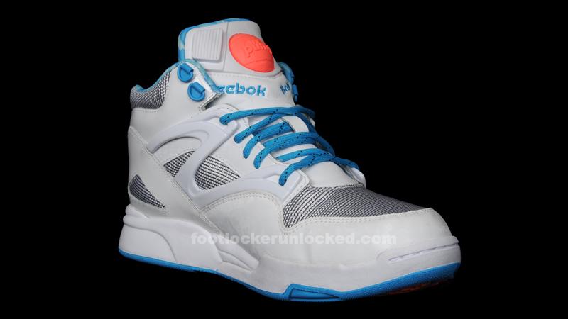 reebok pump white blue