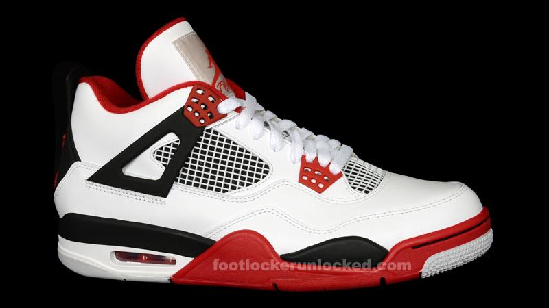 "Jordan Retro IV ""Fire Red"" – Foot"