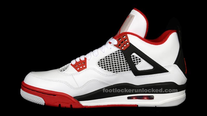 "a10609e88013 Jordan Retro IV ""Fire Red"" – Foot Locker Blog"