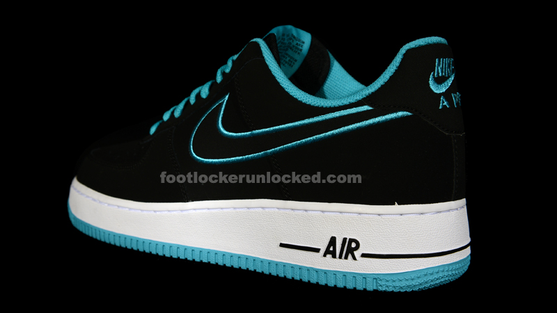 finest selection 7aaeb f721a Nike Air Force 1 Low Black Turquoise. Nike ...