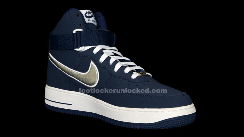 super popular de794 95174 Nike Air Force 1 Hi – Navy Metallic Silver – Foot Locker Blog