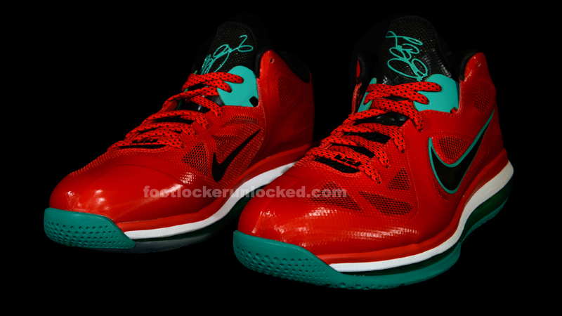 """half off 98d17 9bf31 Nike Air Max Lebron 9 Low """"Action Red"""" – Foot Locker Blog"""