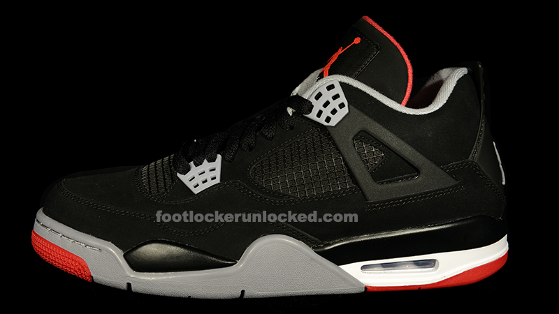 "wholesale dealer 70e14 0f0c1 Jordan Retro IV ""Bred"" – Foot Locker Blog"