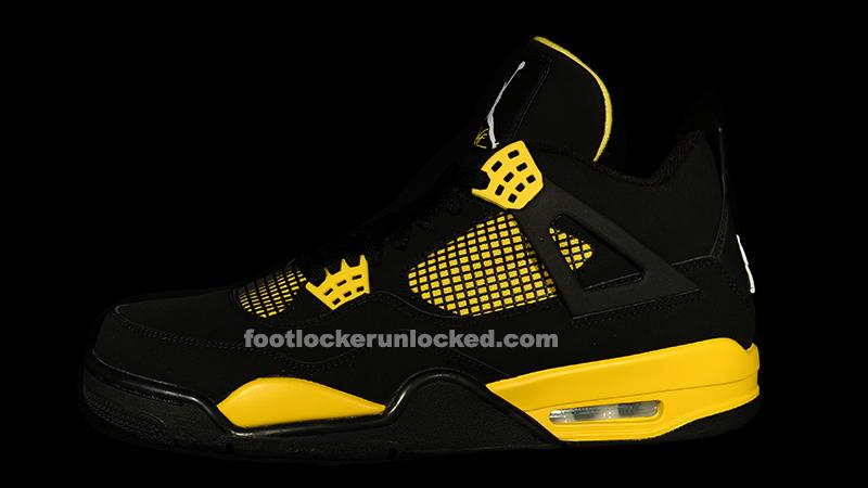 """Jordan Retro IV """"Thunder"""" – Foot Locker"""