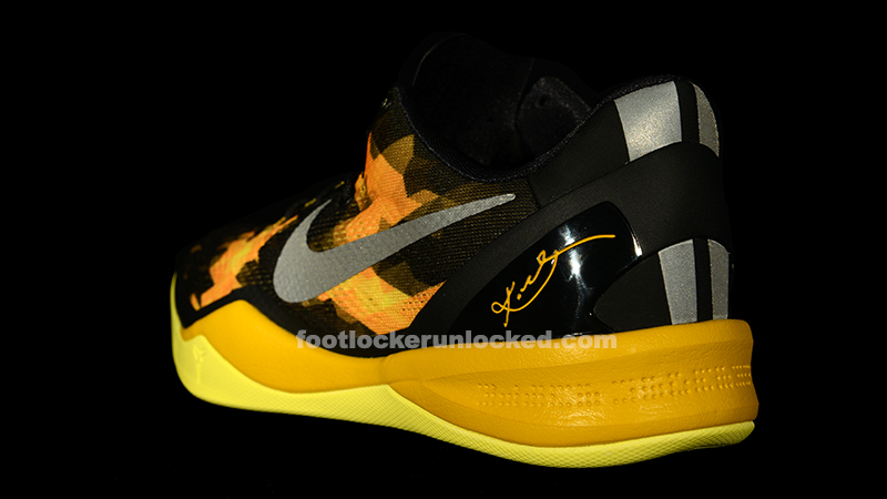 1906eef73f7 kobe 8 black and yellow size 5.5 Nike kobe.