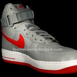 new style 1b971 9d71c Nike Air Force 1 Hi Wolf GreyHyper Red » Nike AF1 High Grey Red3