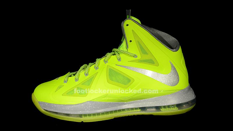 "2b496278feff Nike LeBron X ""Volt"" – Foot Locker Blog"