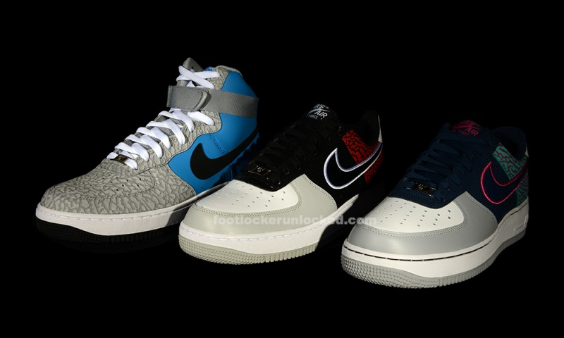 premium selection f3e53 9f7bc Tomorrow, Saturday April 13th three brand new Nike Air Force 1 will drop  with one thing in common  elephant print.