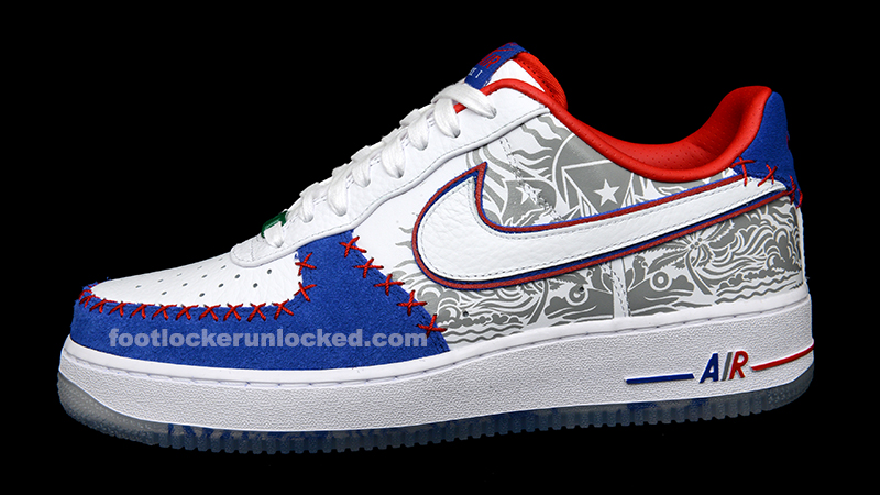 01 MENS'S NIKE Air Force 1 PUERTO RICO Edition with Coqui