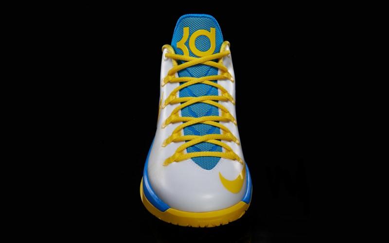 """sports shoes 0ca21 d7ed4 Nike KD V ELITE """"White Tour Yellow Photo Blue"""" – Foot Locker Blog"""