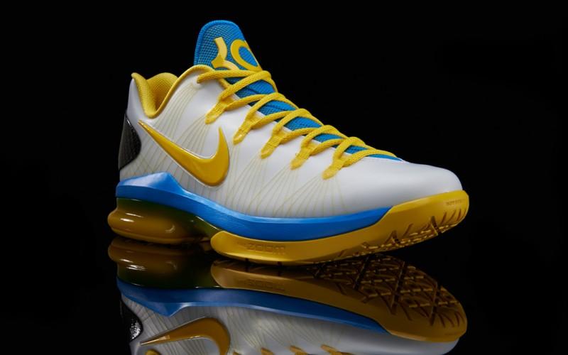 "9a767c6ea531 Nike KD V ELITE ""White Tour Yellow Photo Blue"" – Foot Locker Blog"