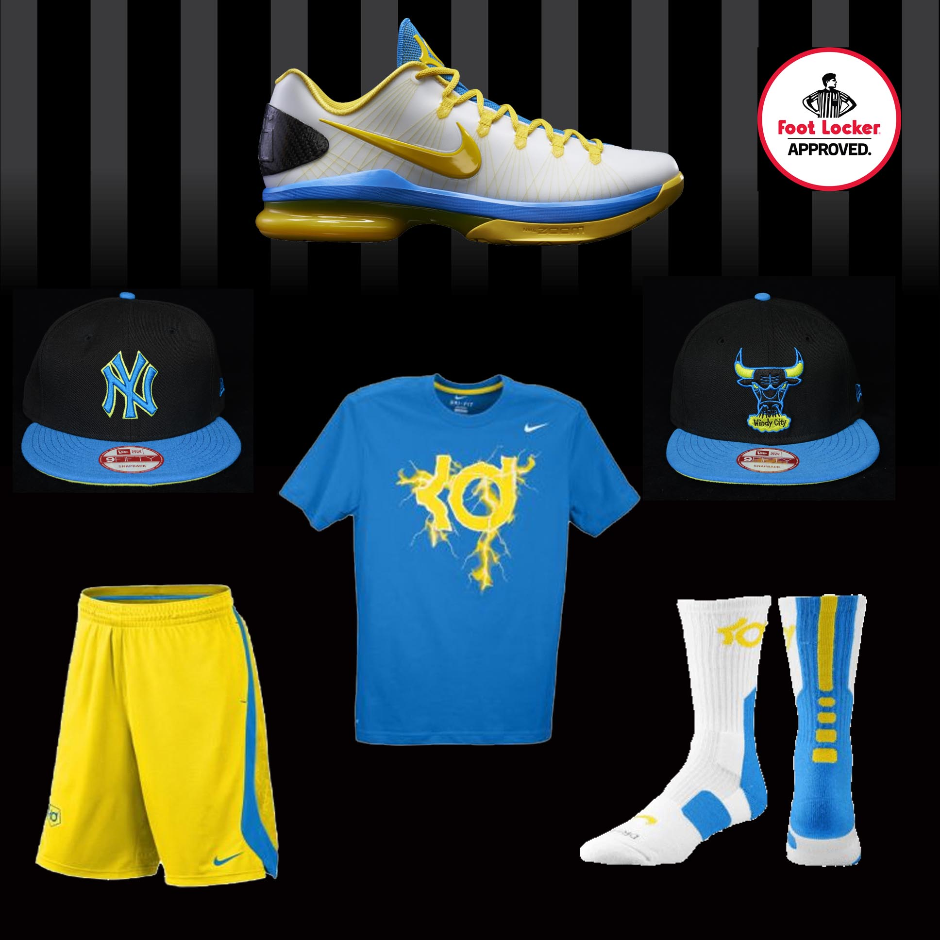 "quality design 8cfe1 4249a Nike KD V ELITE ""White Tour Yellow Photo Blue"" » KDLayout. KDLayout"