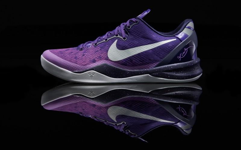 """Nike Kobe 8 """"Purple Platinum"""" – Foot"""