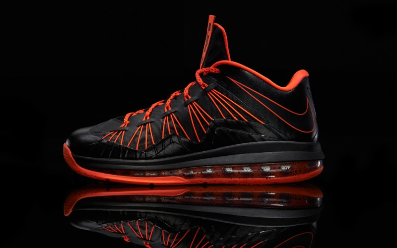 "ab8b4c4e3fc Nike Air Max LeBron X Low ""Black Total Crimson"""
