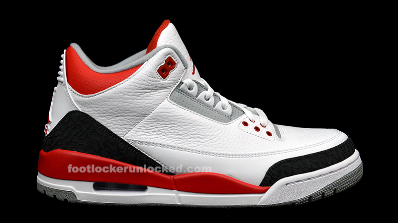 """save off e6adf 71aa5 Air Jordan 3 Retro """"White/Fire Red"""" Release Details – Foot ..."""