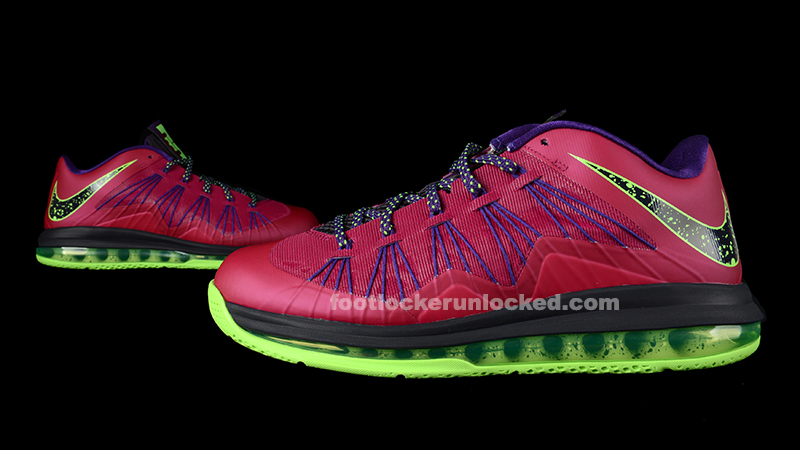 "9f34eb29b28e Nike LeBron X Low ""Raspberry Red"" – Foot Locker Blog"