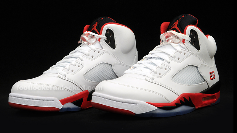 "a383e54255e9 Air Jordan 5 Retro ""Fire Red"" Release Details – Foot Locker Blog"
