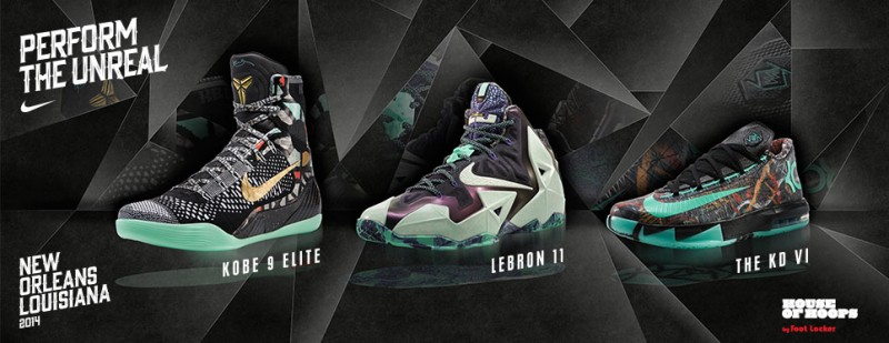 """a1905d7a4bc66 Nike 2014 """"NOLA Gumbo League"""" Collection Release Details. February 10th -  Posted By King Cobra. 24705 Sp14 BB AllStar 965x373 0001 Product. All-Star  ..."""