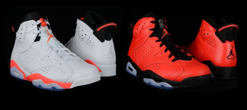 "2fbdaf9fe1d7 Air Jordan 6 Retro ""Infrared 23"" and ""White Infrared"" Release Details"