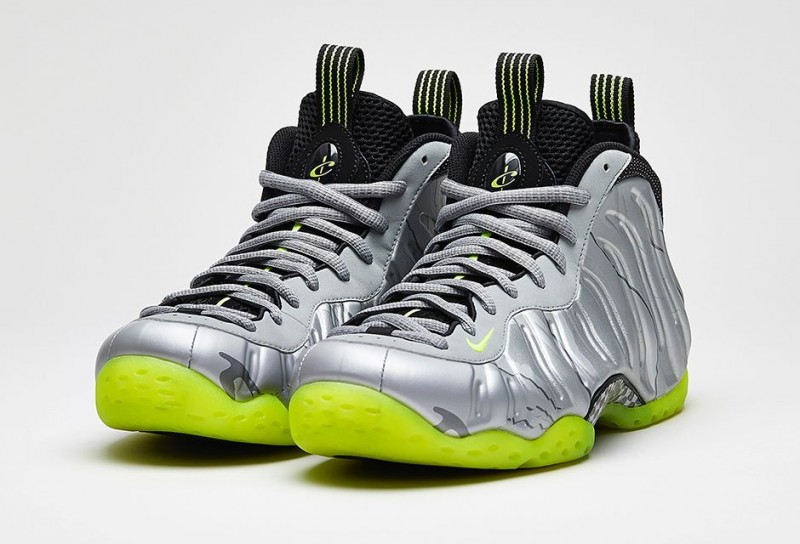 "new styles b1458 d72eb Nike Air Foamposite One PRM ""Metallic Silver/Volt-Black ..."