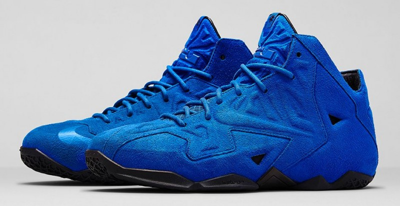 """sports shoes df485 14536 Nike LeBron 11 EXT """"Blue Suede"""" Release Details"""