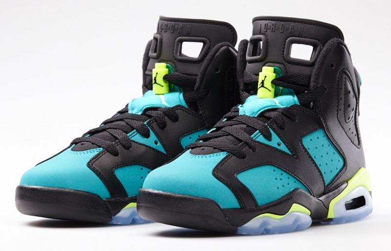 "545317f370305e Girls GS Air Jordan 6 Retro ""Turbo Green"" – Foot Locker Blog"