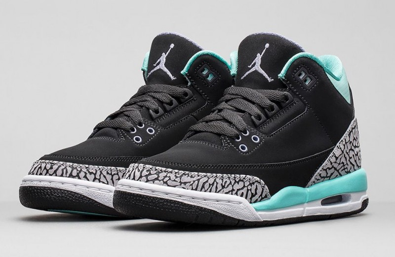 "san francisco 09043 23621 Girls Air Jordan 3 Retro ""Bleached Turquoise"" Release ..."