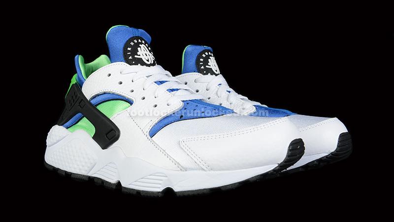 59a054615fac FL Unlocked Nike Huarache Scream Green 01. The Nike Air Huarache continues  to make the summer ...