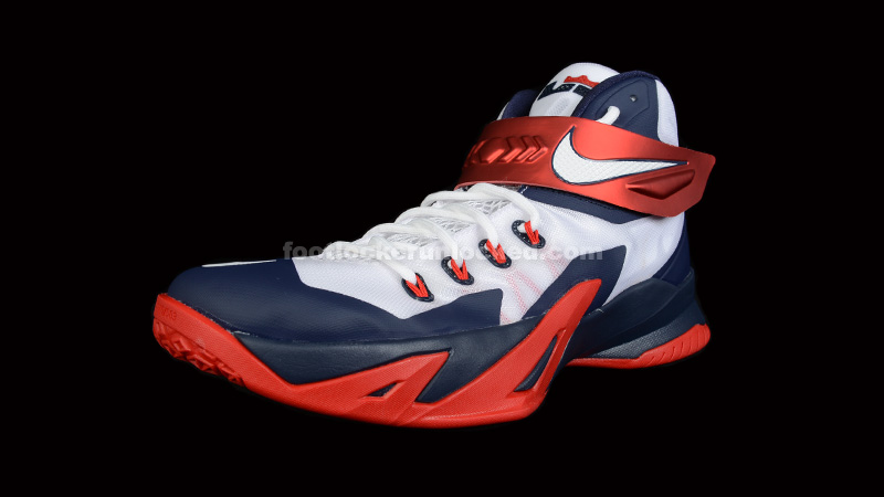"timeless design 688b4 7ac9d Nike LeBron Zoom Soldier 8 ""USA"" – Foot Locker Blog"