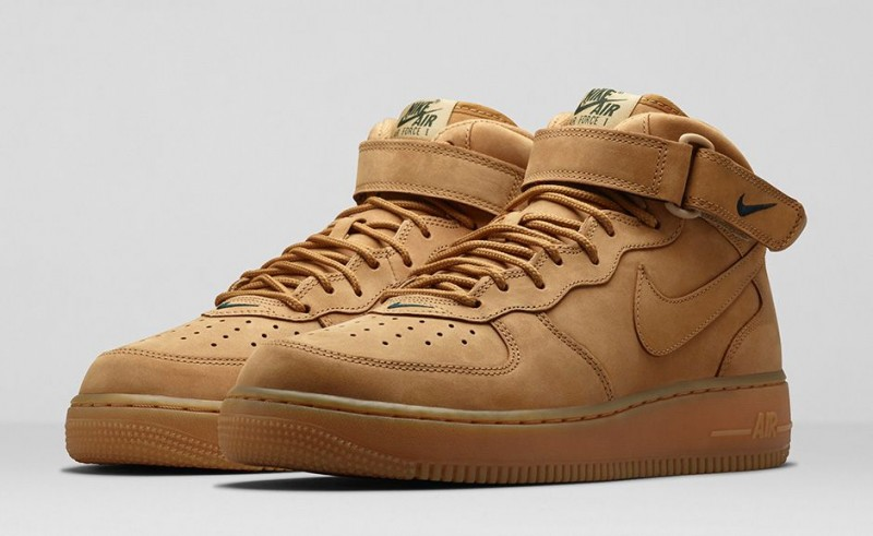 lowest price 7fe18 185ce Foot Locker Unlocked Nike Air Force 1 Mid Flax 1. Sticking with the  seasonal theme dominating new Air Force 1 ...
