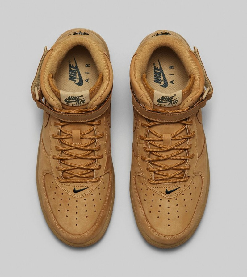 separation shoes e068a 13dd8 Foot Locker Unlocked Nike Air Force 1 Mid Flax 5.  Foot Locker Unlocked Nike Air Force 1 Mid Flax 6