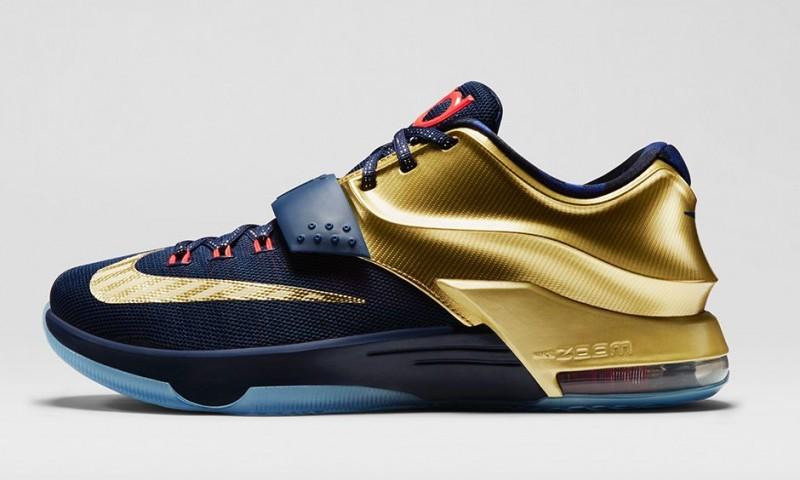 2015 Nike KD 7 Premium Metallic Gold