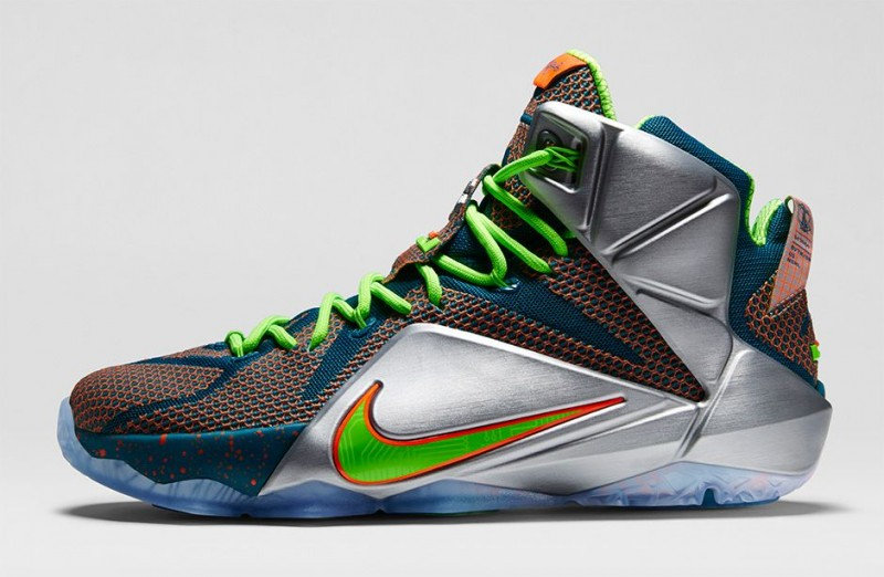 Order Nike Lebron 12 Green Silver
