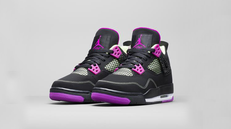 9ed6eb564e11 Girls Air Jordan 4 Retro  Fuchsia Flash  Release Details – Foot ...