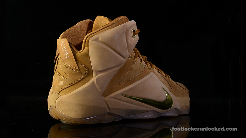 separation shoes 18c58 ff0f5 ... Foot-Locker-Nike-LeBron-12-EXT-Wheat-6