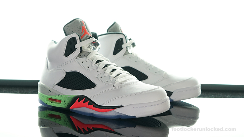 "ce6789846ed3 Air Jordan 5 Retro ""Poison Green"" – Foot Locker Blog"