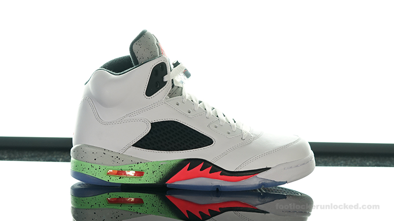 best website 3c0f0 892aa Foot-Locker-Air-Jordan-5-Retro-Poison-Green- ...