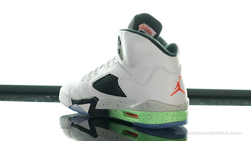 """83f6ba33bb4577 Air Jordan 5 Retro """"Poison Green"""" – Foot Locker Blog"""