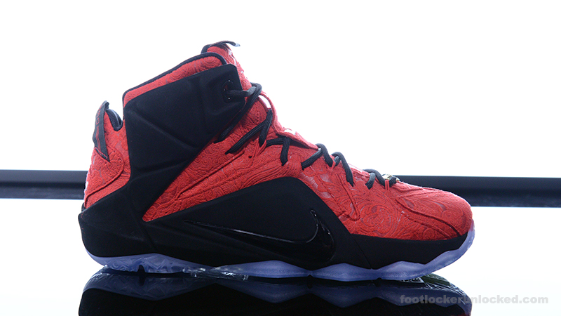 Foot-Locker-Nike-LeBron-12-EXT-Red-Paisley- ...