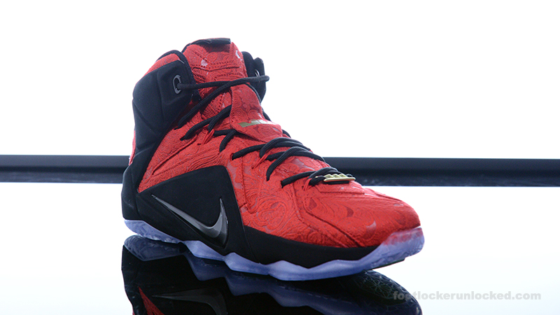 ... Foot-Locker-Nike-LeBron-12-EXT-Red-Paisley- ...