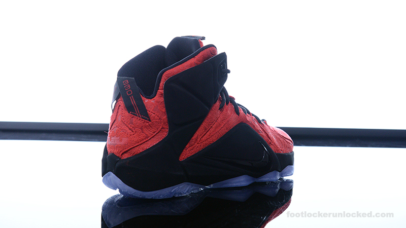 detailed look 5bb34 8e8cf ... Foot-Locker-Nike-LeBron-12-EXT-Red-Paisley- ...
