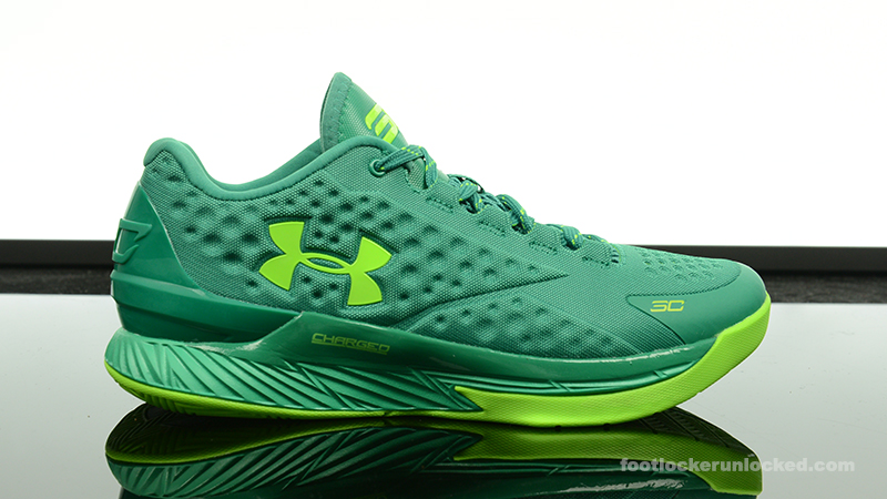 reputable site 78b1a 650a1 ... Low Basketball Shoes Black Green larger image Foot-Locker-Under-Armour- Curry-One-Mid-Scratch- ...
