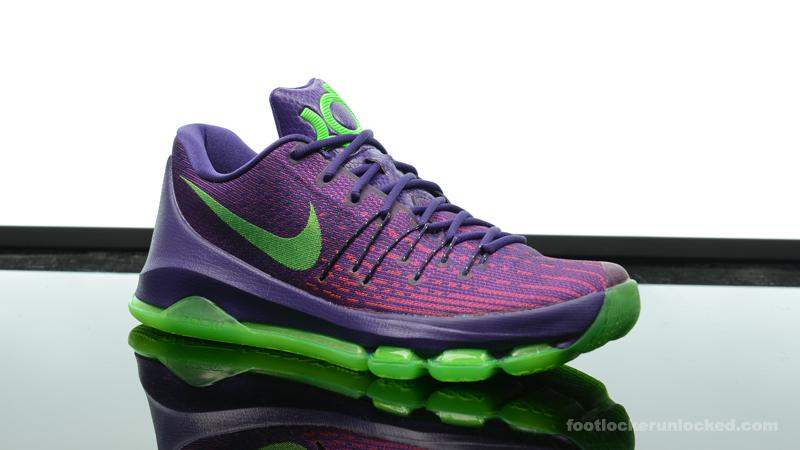 sports shoes 59cae b8ab0 BluePurple-Yellow Foot-Locker-Nike-KD-8- ...