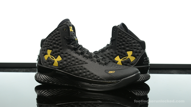 Foot Locker Exclusive Under Armour Curry One Black Gold Banner