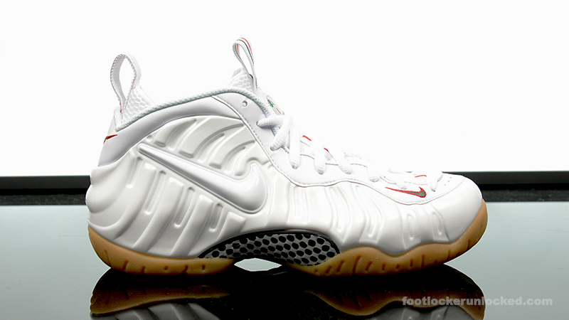 cheaper 3098b 1cea6 Nike Air Foamposite Pro White/Gorge Green – Foot Locker Blog