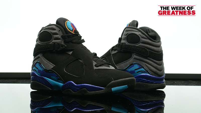 "5b38ee043ff6 Week Of Greatness  Air Jordan 8 Retro ""Aqua"" – Foot Locker Blog"